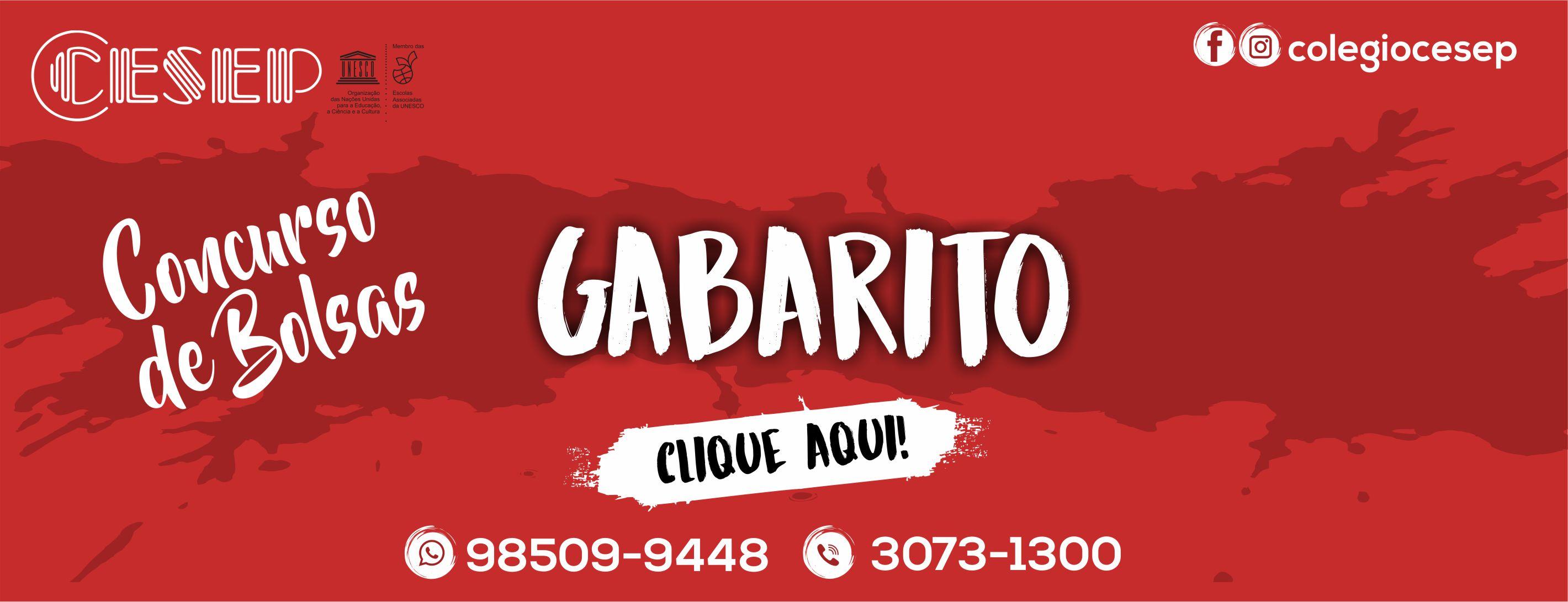 CONCURSO DE BOLSAS – GABARITO